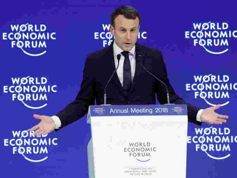 Emmanuel Macron vient de s'exprimer à Davos — voici ses déclarations les plus marquantes