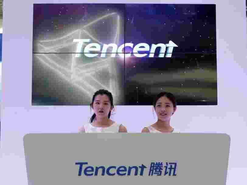Le géant chinois Tencent vient de dépasser Facebook en Bourse