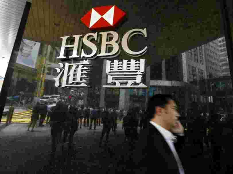 Les bénéfices de HSBC chutent à cause de la vente de sa filiale au Brésil