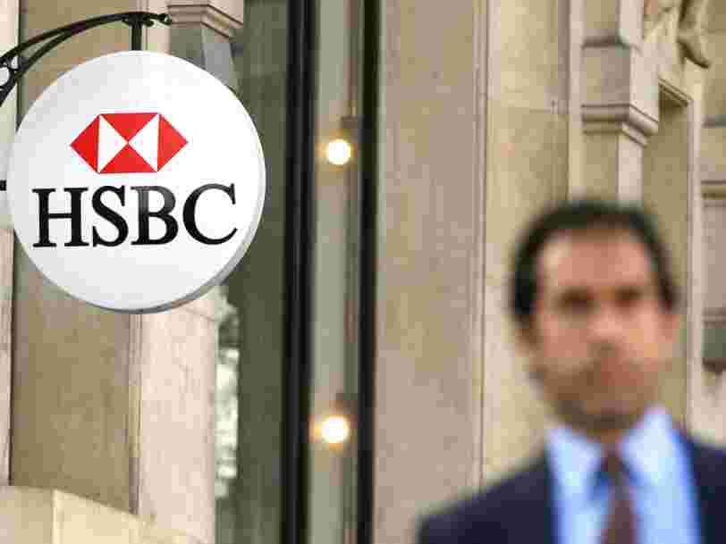 Le bénéfice imposable de HSBC a chuté de 62% en 2016