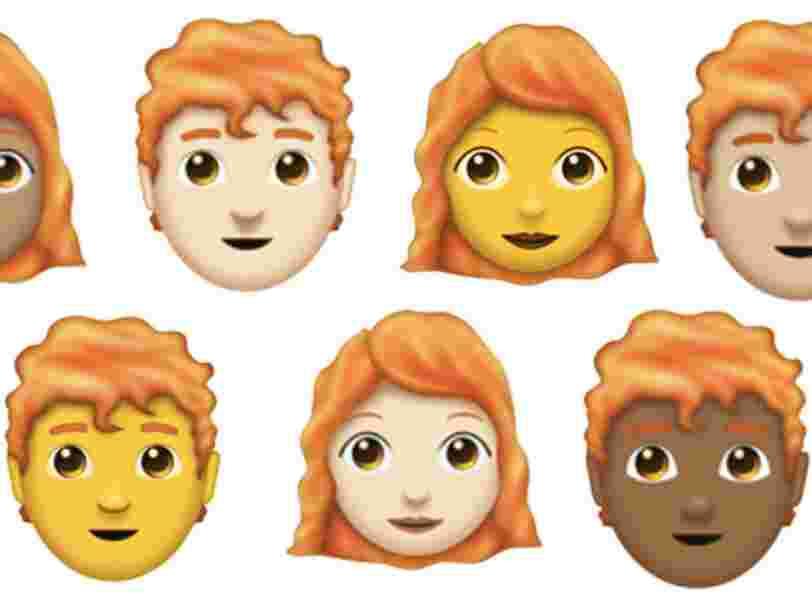 Les emoji roux arrivent cette semaine, avec les bagels, les super-héros et le papier toilette