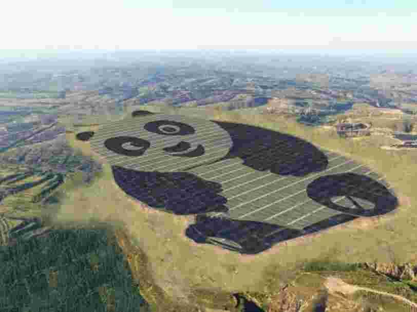 La Chine vient de construire une centrale solaire de plus de 100 hectares en forme de panda
