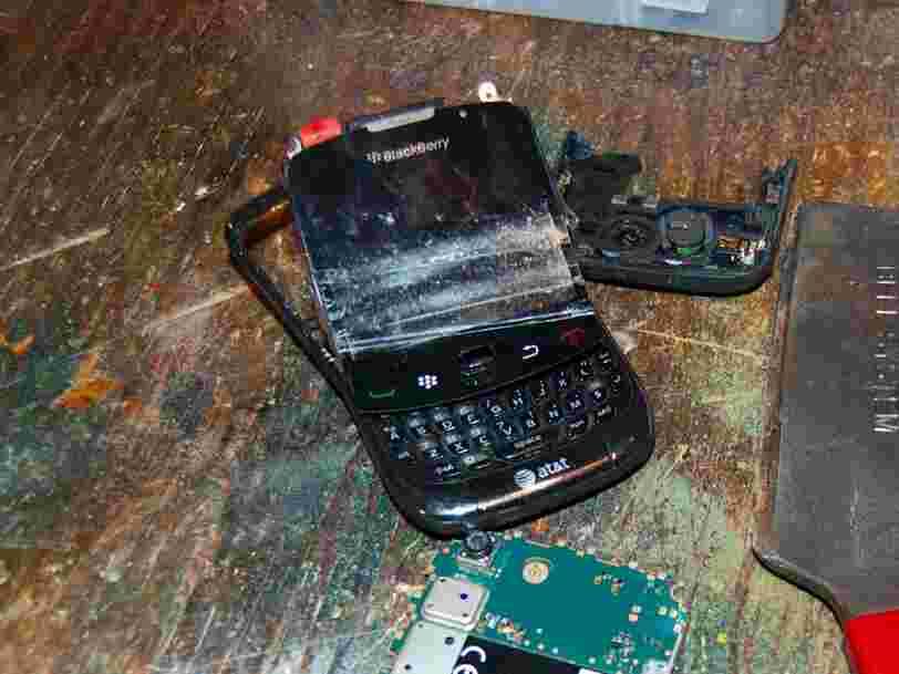 La part de marché de BlackBerry est désormais officiellement de 0%