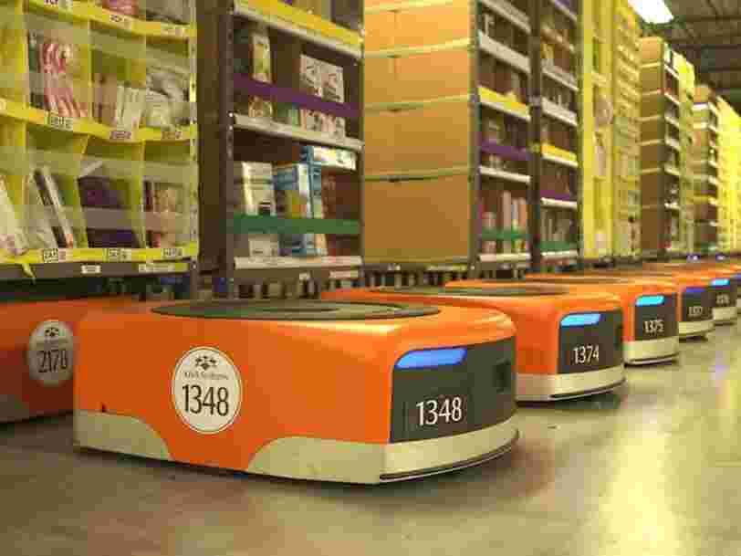 GRAPHIQUE DU JOUR: La main d'œuvre d'Amazon est de plus en plus robotisée