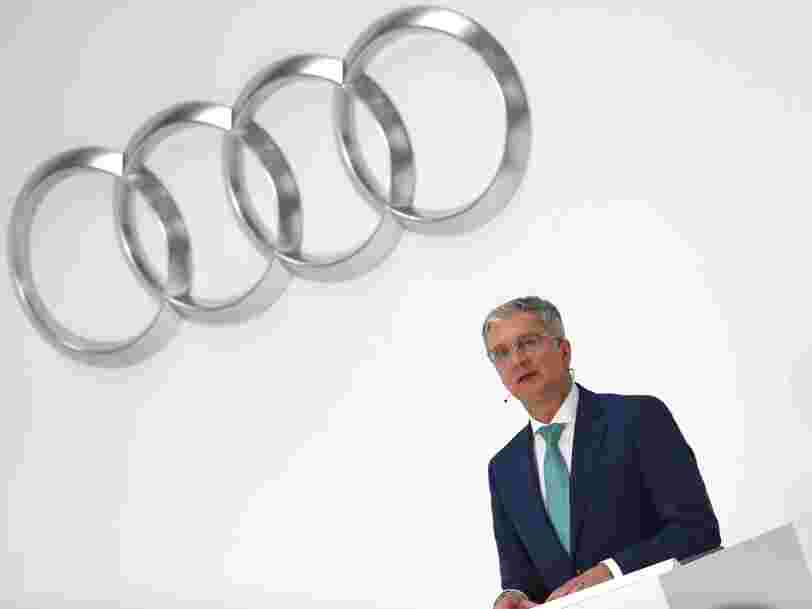 La justice allemande a arrêté le patron d'Audi par peur qu'il ne se débarrasse de preuves concernant le scandale des émissions diesel