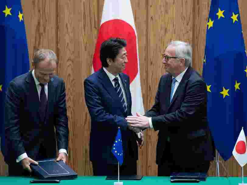 L'Union européenne et le Japon viennent de signer un accord de libre-échange — voici les 2 secteurs gagnants