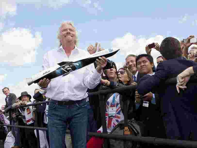 Richard Branson annonce qu'il ira dans l'espace avec Virgin Galactic dans 'quelques mois' — avant d'y envoyer les touristes fortunés