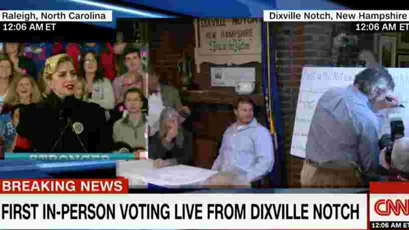Présidentielle américaine : les premiers bulletins de vote ont été enregistrés à Dixville Notch, dans le New Hampshire