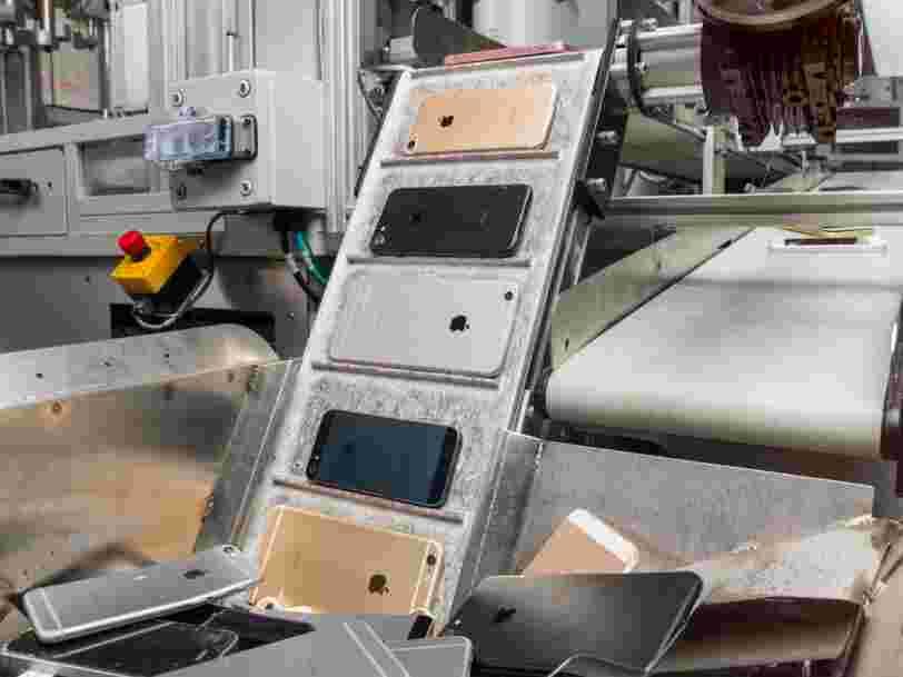 Apple a un nouveau robot destructeur d'iPhone baptisé Daisy qui peut démanteler 200 smartphones par heure
