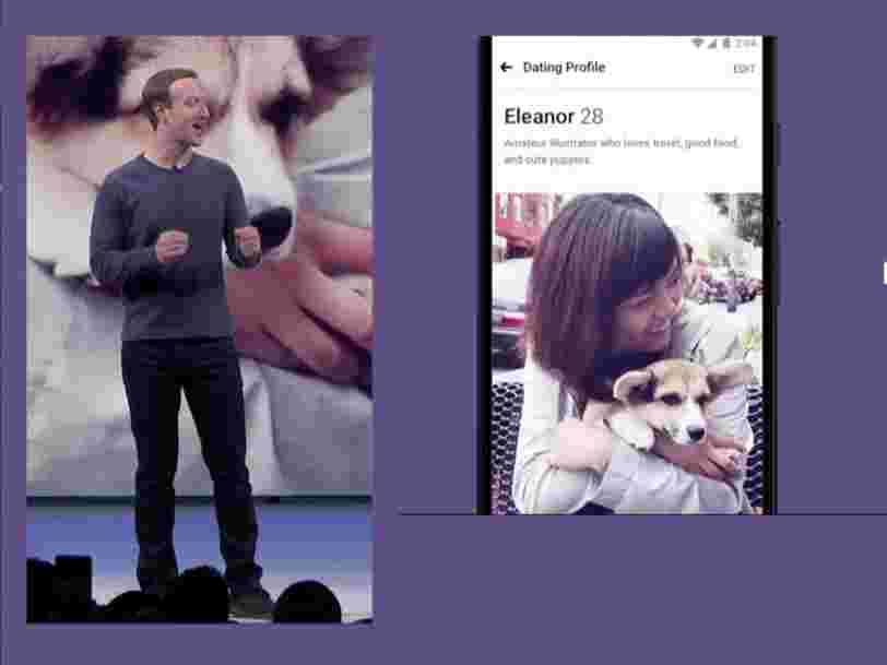 Facebook crée un service de dating pour torpiller Tinder —  voici à quoi il ressemble