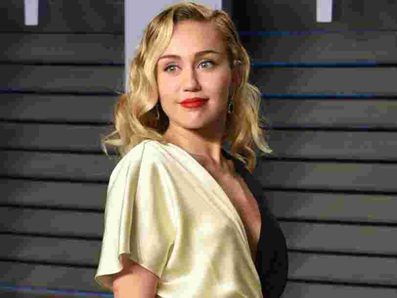 Miley Cyrus est menacée par un procès à 300M$ pour violation de droit d'auteur sur son tube 'We Can't Stop'