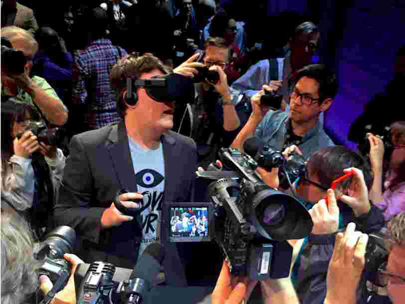 Le cofondateur d'Oculus quitte Facebook, qui avait racheté sa startup de réalité virtuelle pour 2 Mds$