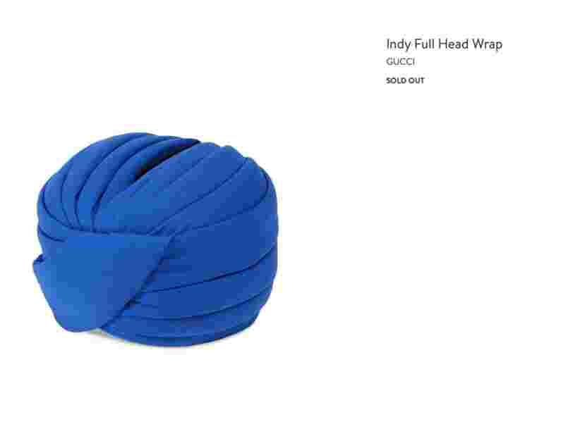 Gucci choque encore avec un turban Sikh à 800 dollars