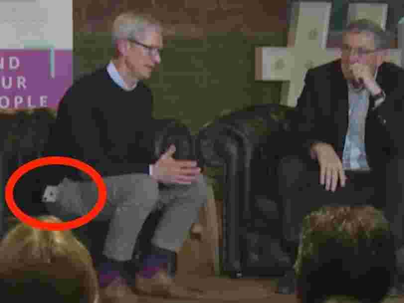 L'iPhone X de Tim Cook refuse de rester dans sa poche