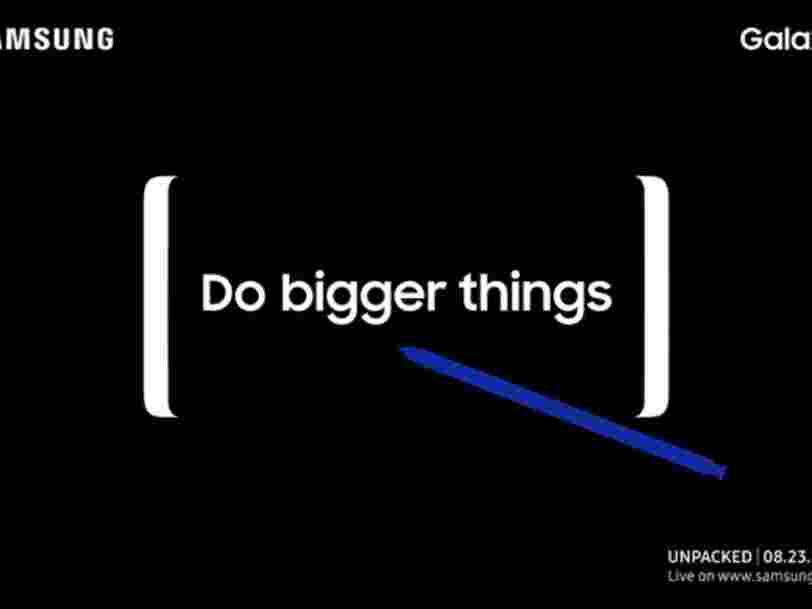 Samsung présentera son nouveau Galaxy Note 8 le 23 août prochain