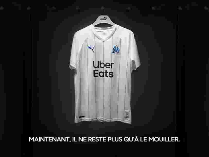 Uber Eats cède à la pression et change son logo sur le nouveau maillot de l'OM
