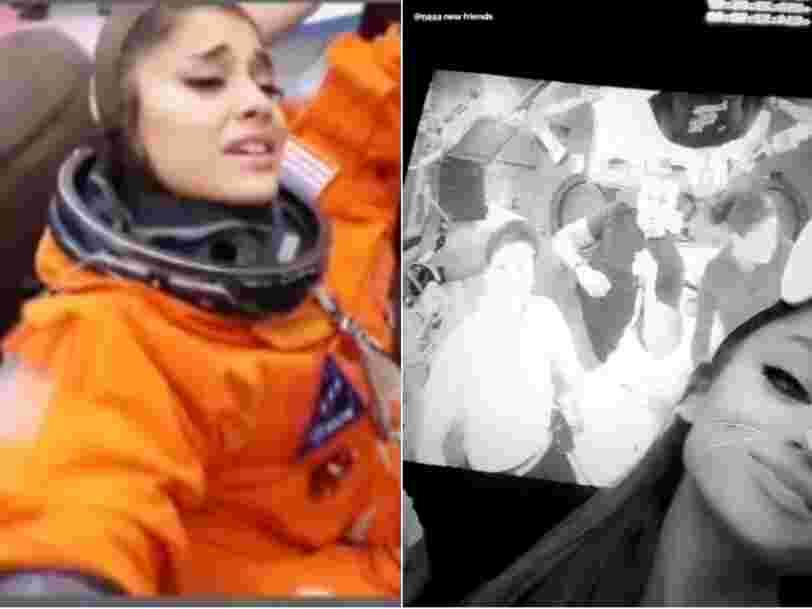 Ariana Grande a été invitée à la NASA et elle a pu faire un FaceTime avec l'ISS
