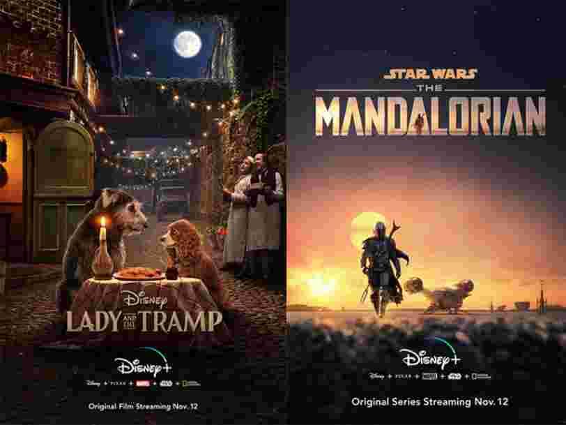 Disney dévoile les affiches du remake de 'La Belle et le Clochard' et de la série Star Wars 'The Mandalorian'