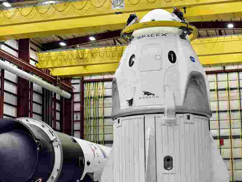 Le premier vol test de la navette de SpaceX qui transportera des astronautes vers l'ISS sera très 'dangereux' selon Elon Musk