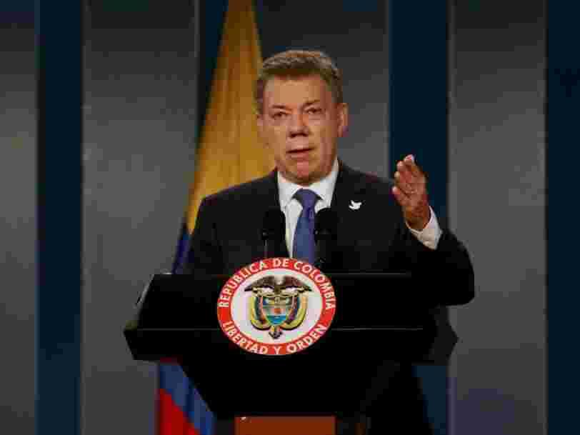 Le prix Nobel de la paix a été attribué au président colombien Juan Manuel Santos