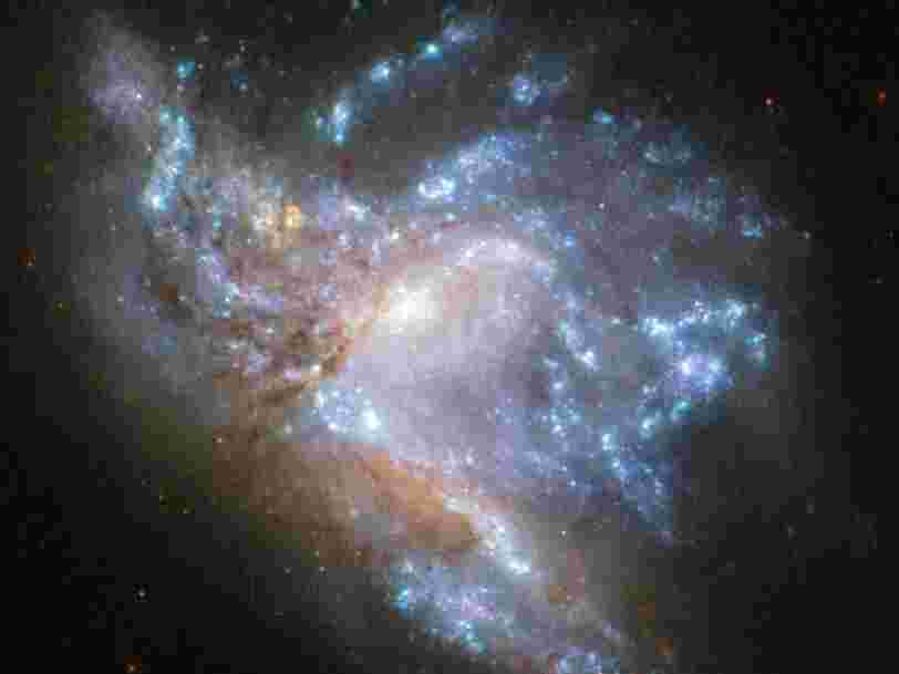 La NASA a publié une photo époustouflante qui montre 2 galaxies entrant en collision
