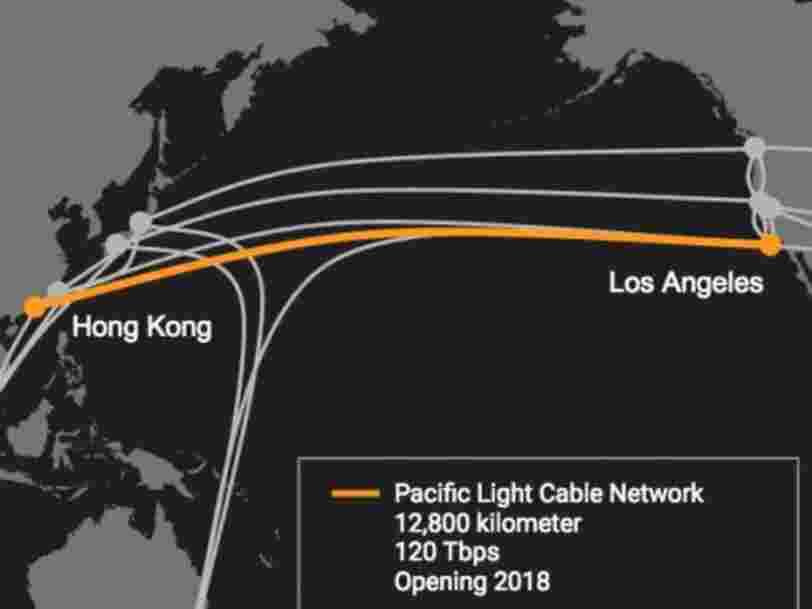 Google et Facebook s'associent pour tirer un câble sous-marin de Los Angeles à Hong Kong