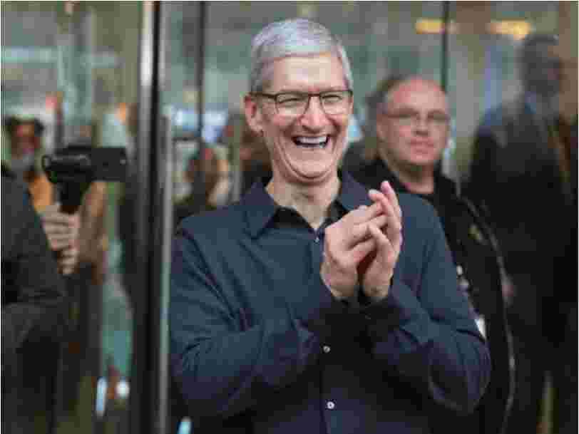Tim Cook a gagné plus de 15M$ en 2018 — c'est 283 fois plus que le salaire médian chez Apple