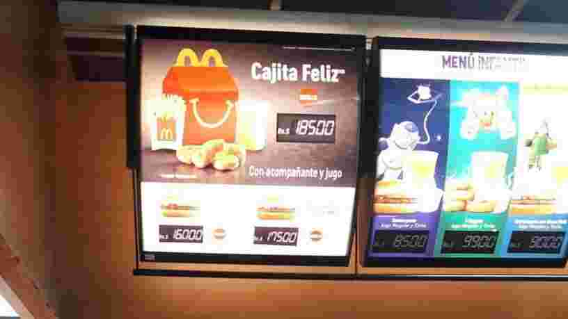 Au Venezuela, le Happy Meal de McDonald's coûte plus cher qu'un mois de salaire