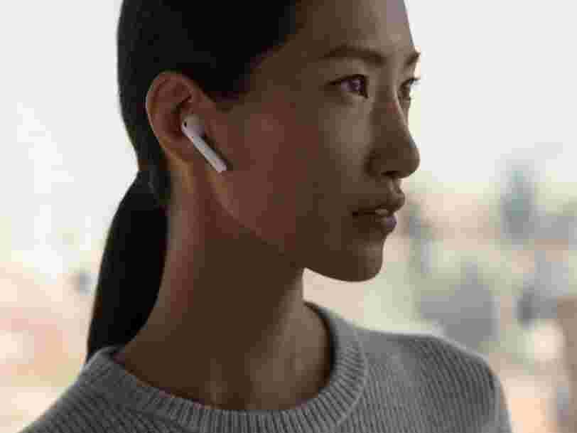 Les AirPods d'Apple pourraient être dotés de fonctionnalités populaires sur iPhone en 2018 et 2019