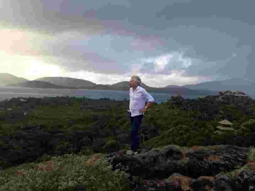Richard Branson refuse de quitter son île privée même si l'ouragan Irma est 'potentiellement catastrophique'