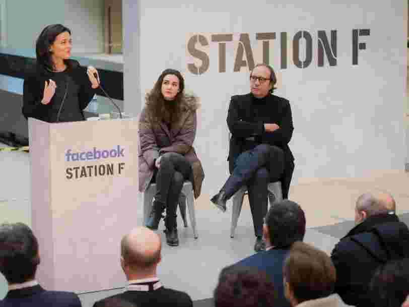 Facebook vient de dévoiler les noms des 12 premières startups qui intègreront son programme à Station F