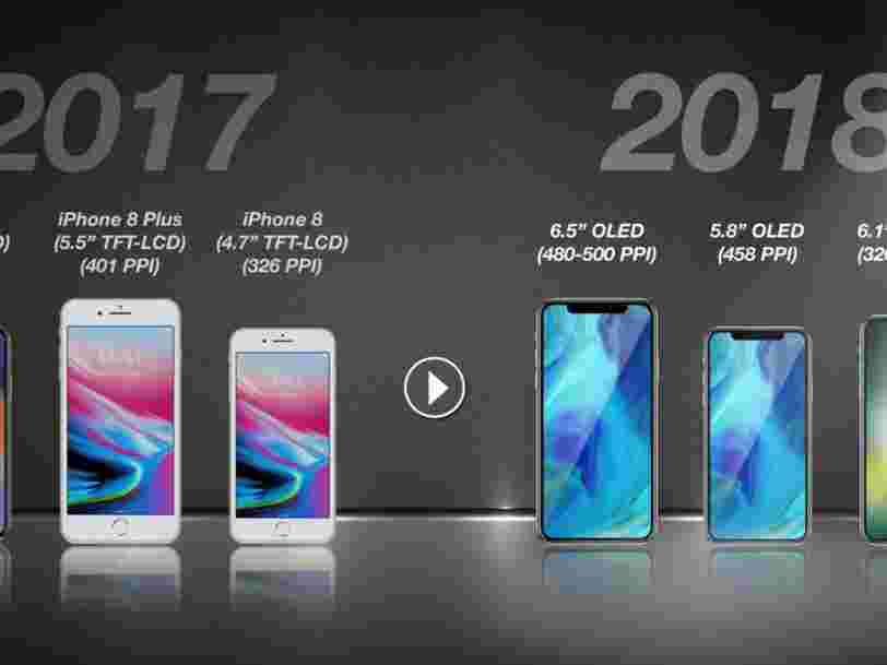 Un analyste prédit qu'Apple sortira 3 nouveaux iPhones l'année prochaine — dont un iPhone X grande taille