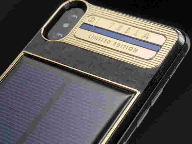 Cet iPhone X à 4000$ a sa propre batterie solaire — et le premier sera envoyé à Elon Musk