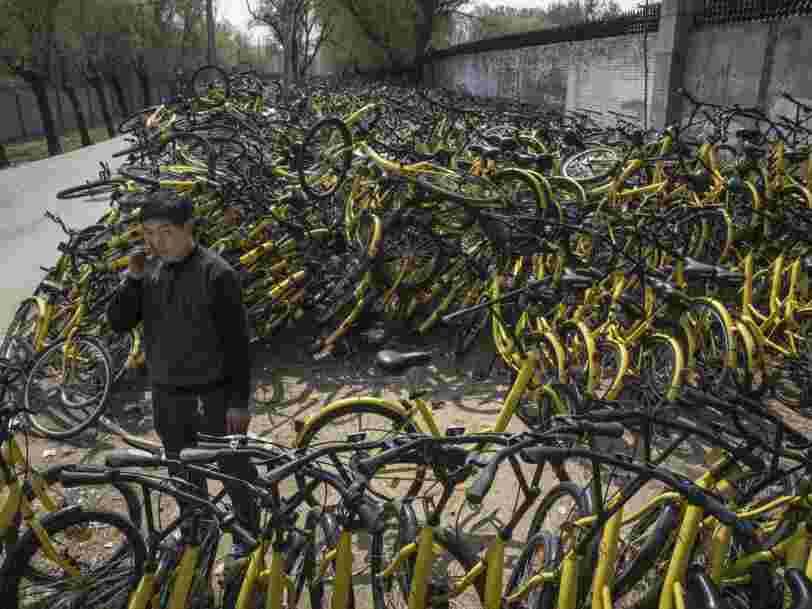 La startup chinoise de vélos en libre-service Ofo qui débarque à Paris aurait levé 1Md$