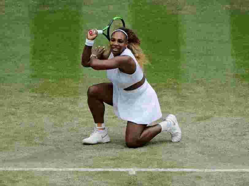 Serena Williams a posté une photo sur Instagram alors qu'elle était en plein match à Wimbledon