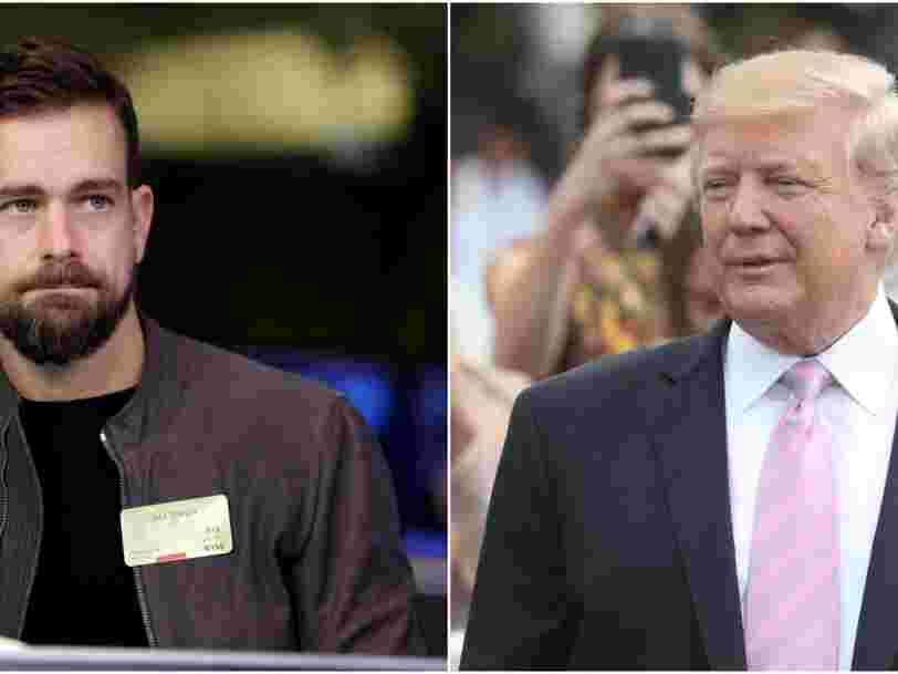 Jack Dorsey, le DG de Twitter, a expliqué à Donald Trump pourquoi il perdait des abonnés
