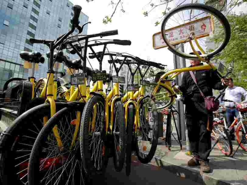 Cette appli chinoise de vélo en libre-service lève 866M$ auprès d'Alibaba pour réussir là où son concurrent Gobee.bike a échoué