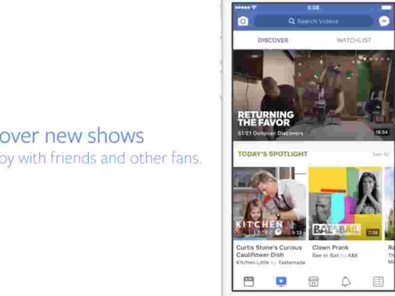 Facebook lance officiellement son assaut contre la télévision et YouTube