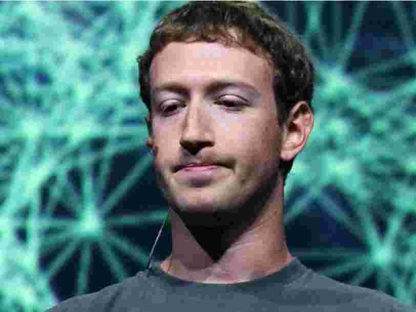 Facebook a secrètement supprimé certains messages privés de Mark Zuckerberg par crainte d'un piratage