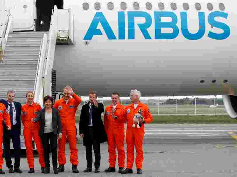 Airbus chute en Bourse alors que la justice américaine soupçonne l'avionneur européen de corruption