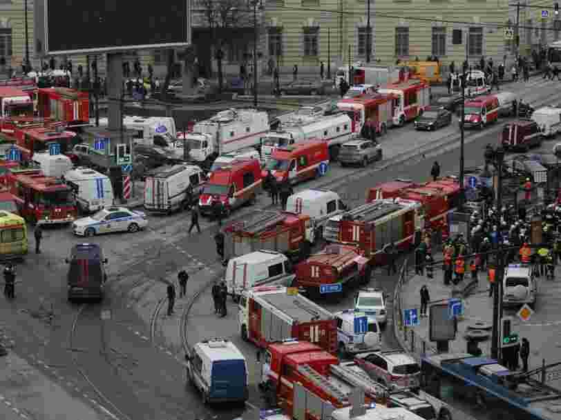 Une explosion dans le métro de Saint-Pétersbourg fait plusieurs morts