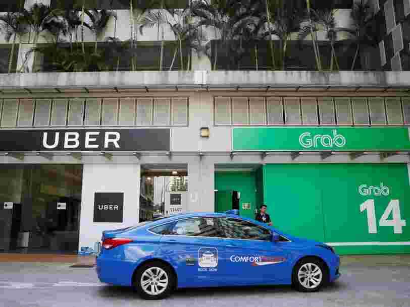 Uber s'avoue une nouvelle fois vaincu en Asie et cède ses activités à son rival Grab