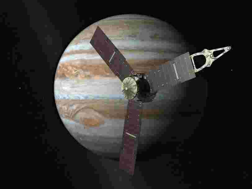 La sonde spatiale à 1 Md$ de la NASA vient d'envoyer de magnifiques nouvelles images de la Grande Tache rouge de Jupiter