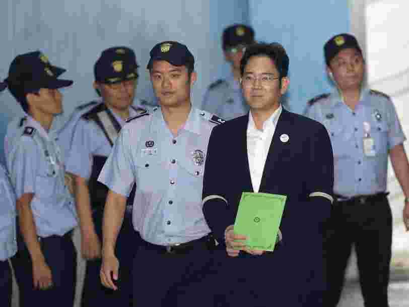 L'héritier de l'empire Samsung risque 12 ans de prison pour corruption et détournement de fonds