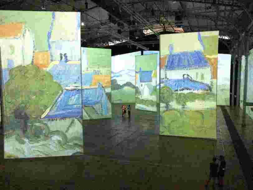 Un projet de Google lancé en 2011 a permis de réaliser la première exposition immersive de Van Gogh en France