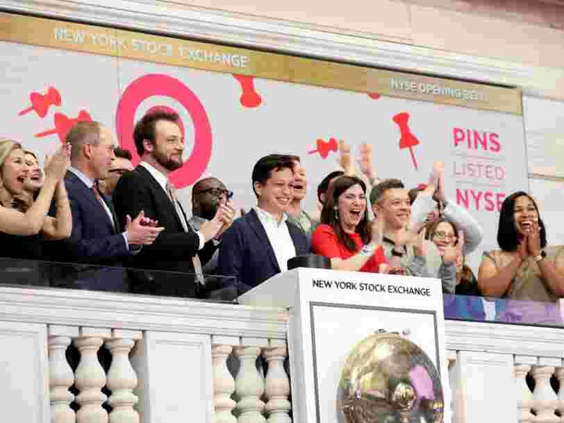 Pinterest signe un bon démarrage pour son premier jour en Bourse