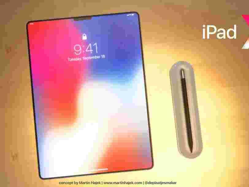 Ces illustrations montrent ce qu'Apple pourrait prévoir pour le prochain iPad