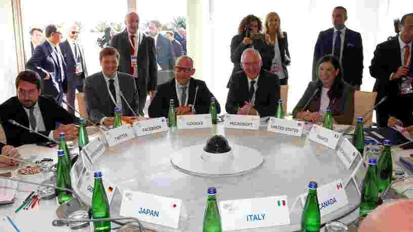 Le G7 a enrôlé des géants tech pour que les contenus à caractère terroriste ne circulent plus sur le web 'comme un poisson dans l'eau'