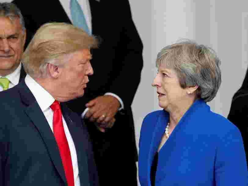 Donald Trump avertit Theresa May que son projet pour le Brexit 'tuera' probablement tout accord commercial avec les Etats-Unis