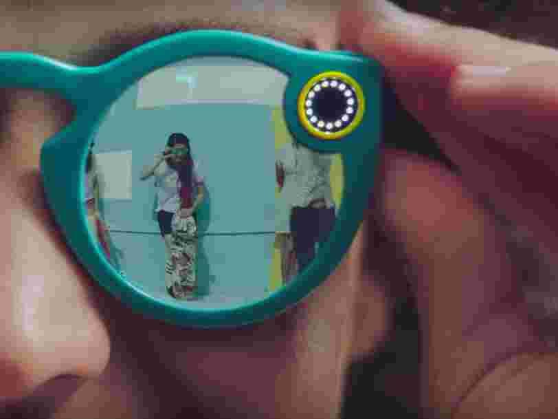 Il y a une raison simple pour laquelle le créateur de Snapchat présente ses lunettes connectées comme un 'jouet'